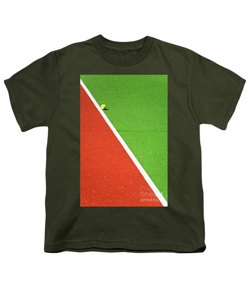 Red Green White Line And Tennis Ball Youth T-Shirt