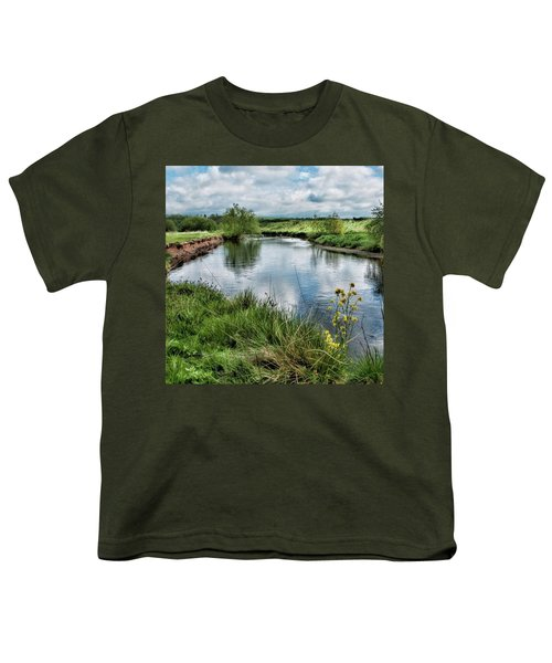 River Tame, Rspb Middleton, North Youth T-Shirt by John Edwards