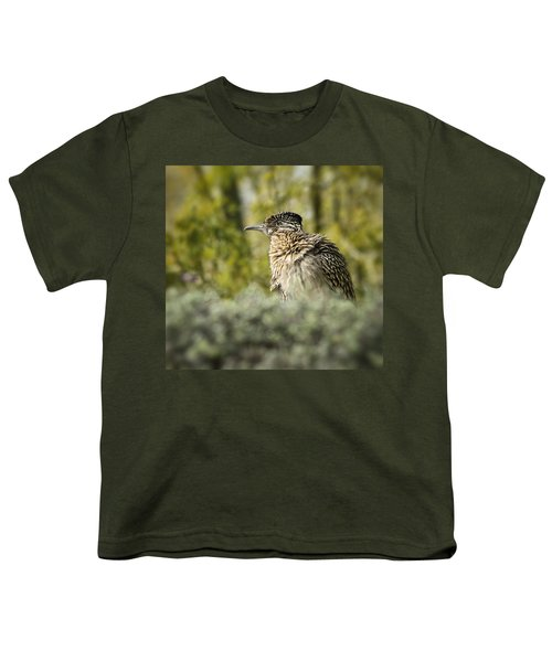 Roadrunner On Guard  Youth T-Shirt by Saija  Lehtonen