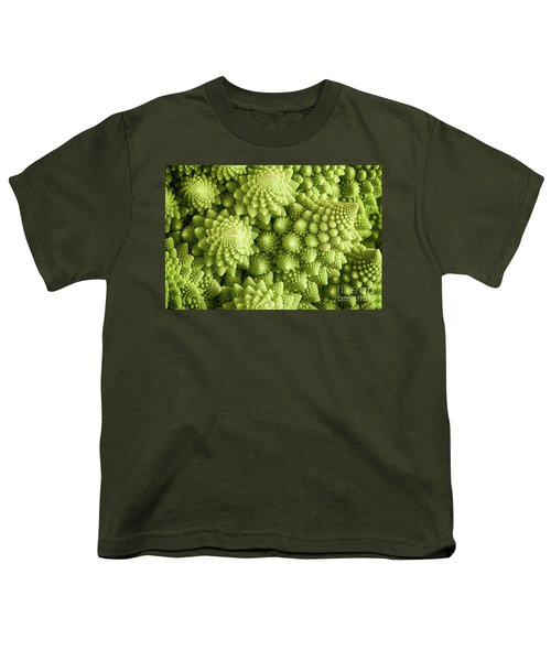 Romanesco Broccoli Vegetable Close Up Youth T-Shirt