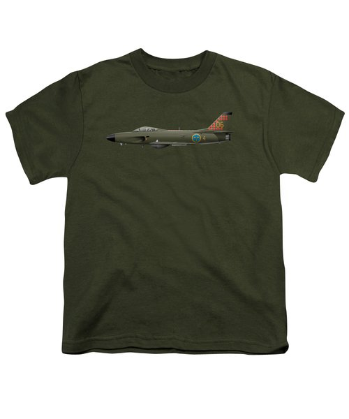 Saab J32d Lansen - 32606 - Side Profile View Youth T-Shirt