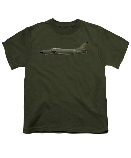 Saab J32e Lansen - 32620 - Side Profile View Youth T-Shirt