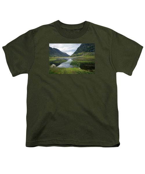 Scottish Tranquility Youth T-Shirt by Dubi Roman