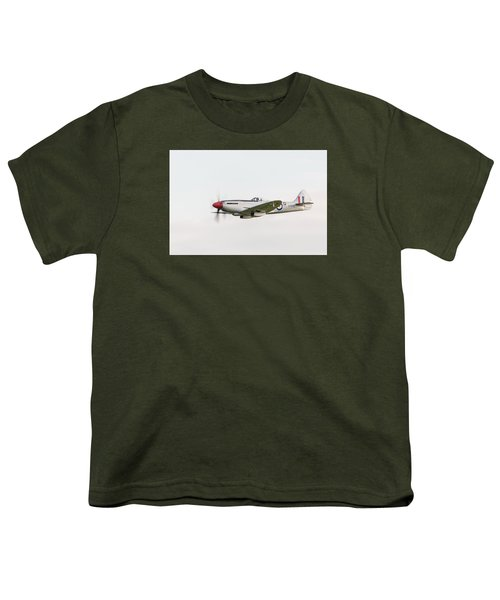 Silver Spitfire Fr Xviiie Youth T-Shirt by Gary Eason