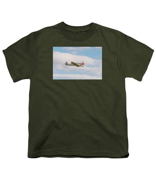 Silver Spitfire Youth T-Shirt by Gary Eason