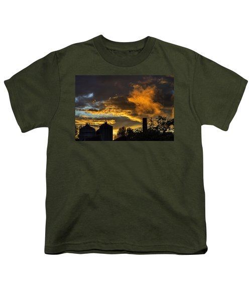 Youth T-Shirt featuring the photograph Smoky Sunset by Jeremy Lavender Photography