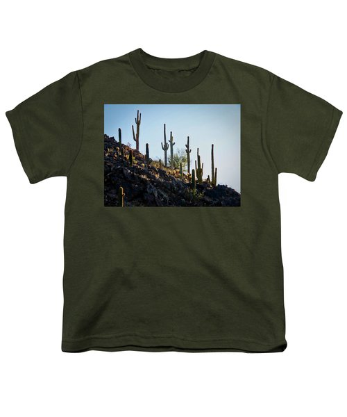 Sonoran Desert Saguaro Slope Youth T-Shirt