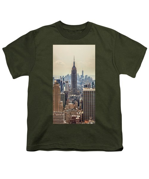 Sprawling Urban Jungle Youth T-Shirt by Az Jackson