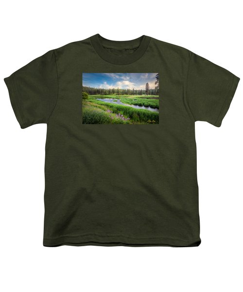 Youth T-Shirt featuring the photograph Spring River Valley by Rikk Flohr