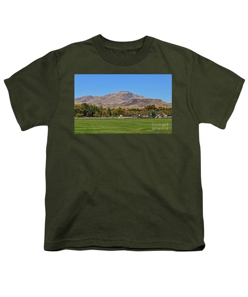 Squaw Butte From Gem Island Sport Complex Youth T-Shirt
