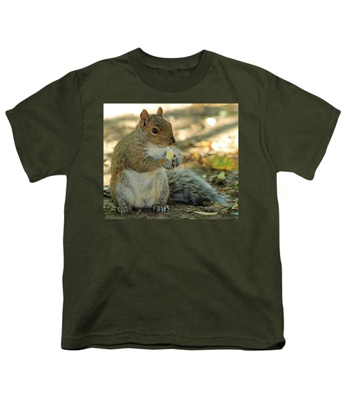 Squirrel Youth T-Shirt by Anne Venissac