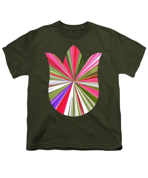 Striped Tulip Youth T-Shirt by Marian Bell