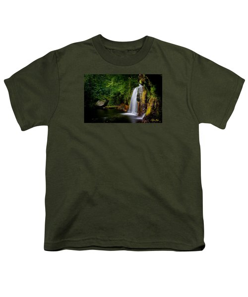 Youth T-Shirt featuring the photograph Summer At Wolf Creek Falls by Rikk Flohr