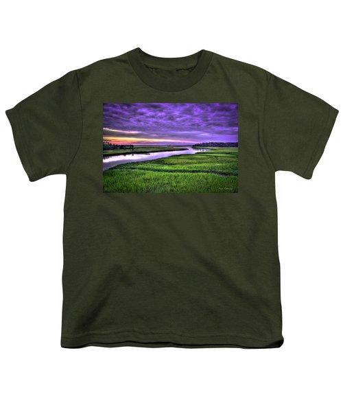 Sunset Over Turners Creek Savannah Tybee Island Ga Youth T-Shirt