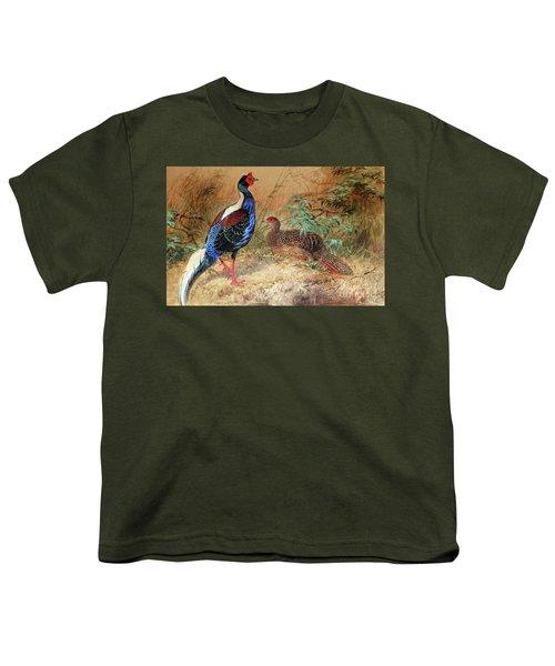 Swinhoe's Pheasant  Youth T-Shirt by Joseph Wolf