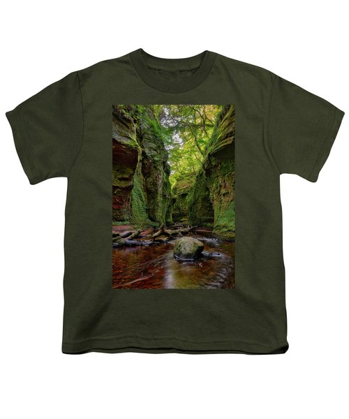 The Devil Pulpit At Finnich Glen Youth T-Shirt by Jeremy Lavender Photography