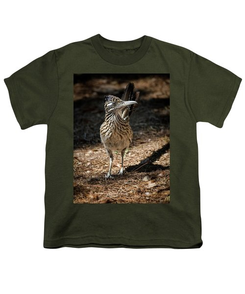 The Greater Roadrunner Walk  Youth T-Shirt by Saija Lehtonen