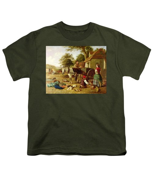 The Market Cart Youth T-Shirt by Henry Charles Bryant