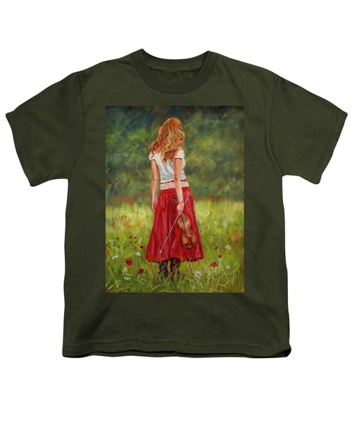 The Violinist Youth T-Shirt