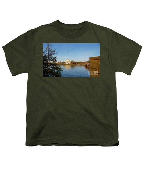 Tidal Basin And Jefferson Memorial Youth T-Shirt