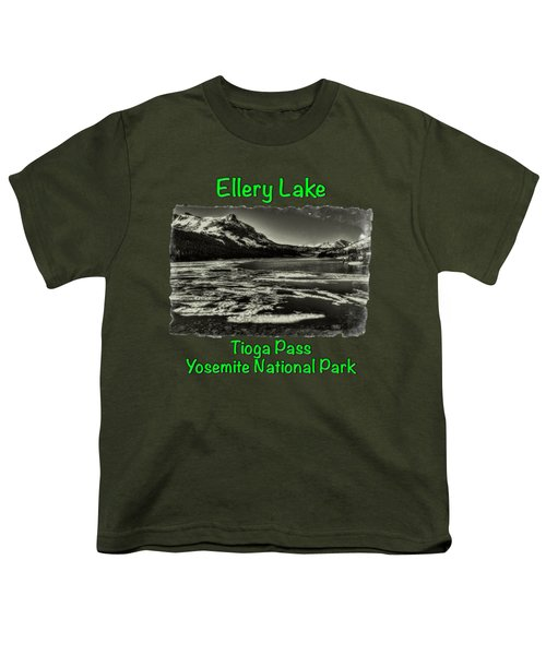 Tioga Pass Lake Ellery Early Summer Youth T-Shirt by Roger Passman