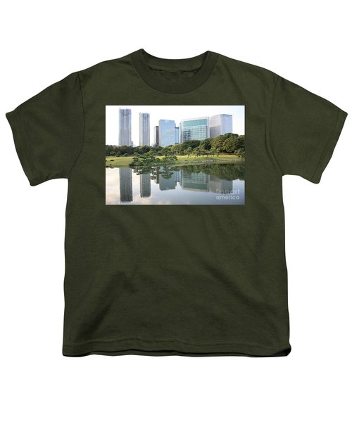 Tokyo Skyline Reflection Youth T-Shirt