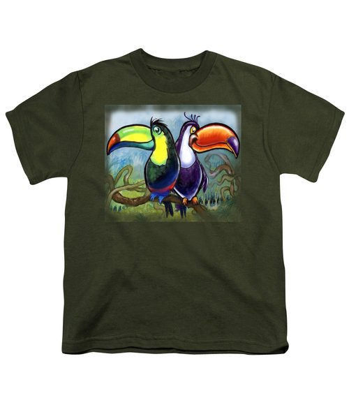 Toucans Youth T-Shirt by Kevin Middleton