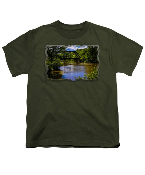 Trestle Over River Youth T-Shirt by Mark Myhaver