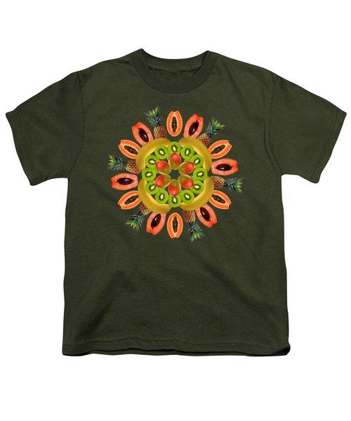 Tropical Fruits Youth T-Shirt by Edelberto Cabrera