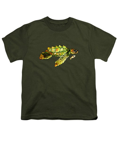 Turtle Talk Youth T-Shirt by Candace Ho