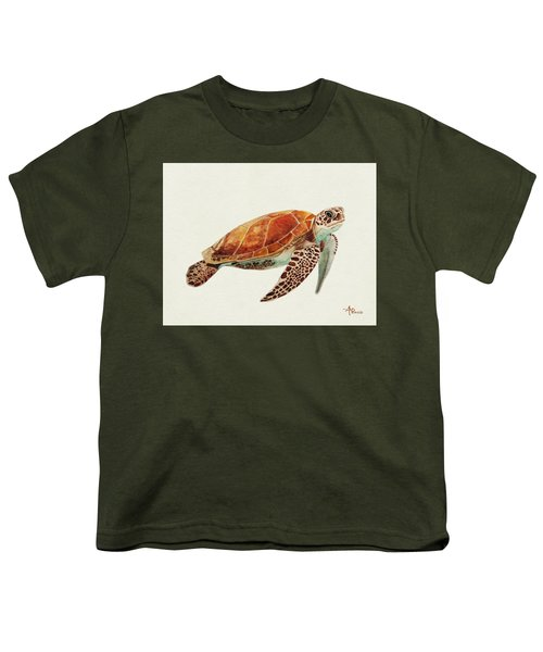 Turtle Watercolor Youth T-Shirt