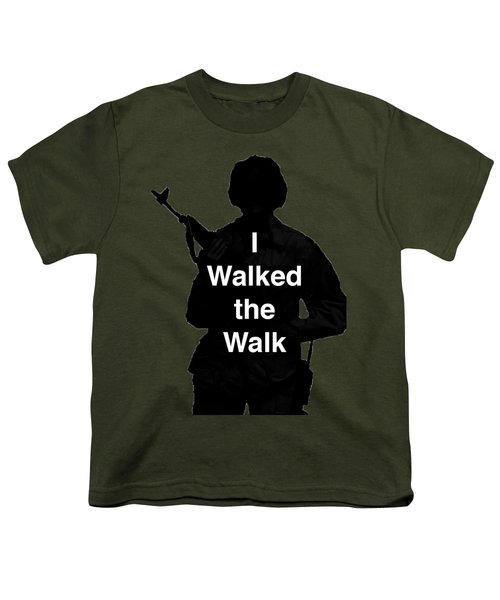 Walk The Walk Youth T-Shirt by Melany Sarafis