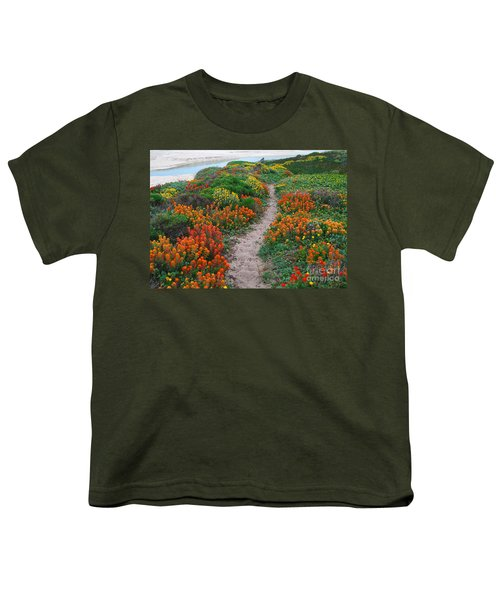 Wildflower Path At Ribera Beach Youth T-Shirt