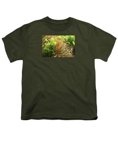 Windblown Grasses Youth T-Shirt by Nareeta Martin