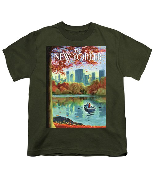 Autumn Central Park Youth T-Shirt