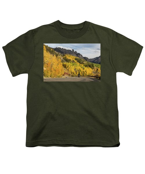 Youth T-Shirt featuring the photograph Easy Autumn Rider by James BO Insogna