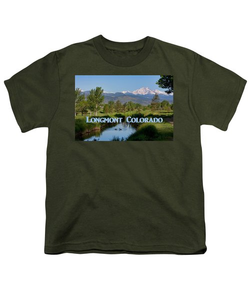 Youth T-Shirt featuring the photograph Longmont Colorado Twin Peaks View Poster by James BO Insogna