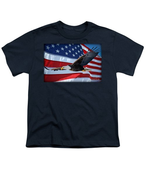 Youth T-Shirt featuring the photograph American Proud by Gary Keesler