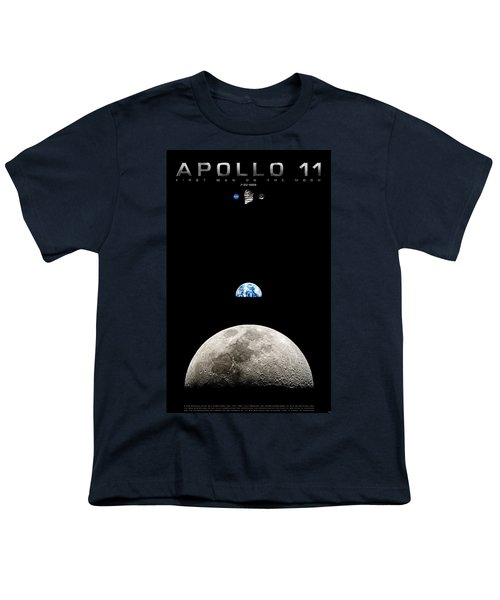 Apollo 11 First Man On The Moon Youth T-Shirt