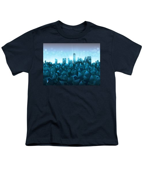 Austin Skyline Geometry 3 Youth T-Shirt by Bekim Art