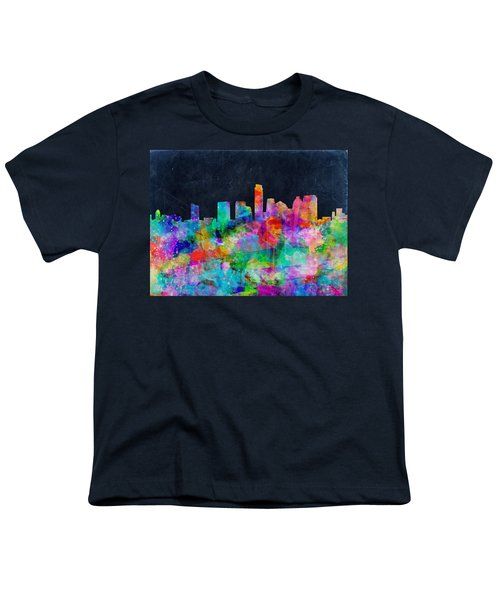 Austin Watercolor Panorama Youth T-Shirt