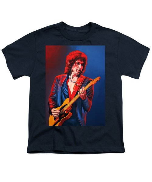 Bob Dylan Painting Youth T-Shirt by Paul Meijering