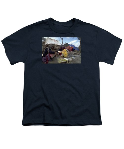 Youth T-Shirt featuring the photograph Camping In Iraq by Travel Pics