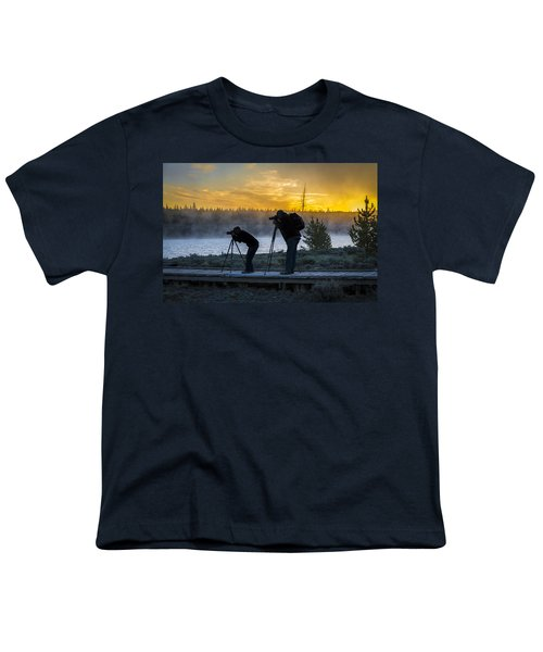 Early Birds Yellowstone National Park Youth T-Shirt