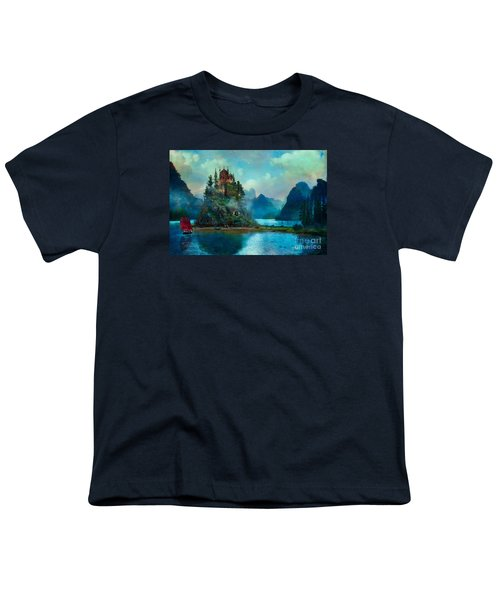 Youth T-Shirt featuring the digital art Journeys End by Aimee Stewart