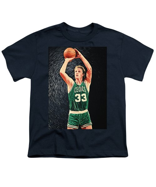 Larry Bird Youth T-Shirt by Taylan Apukovska