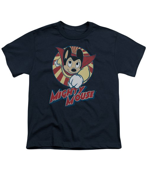 Mighty Mouse - The One The Only Youth T-Shirt by Brand A