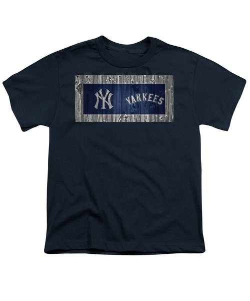 New York Yankees Barn Door Youth T-Shirt by Dan Sproul