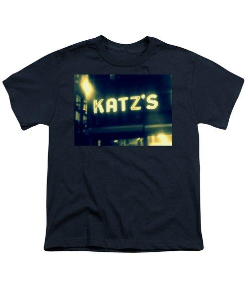 Nyc's Famous Katz's Deli Youth T-Shirt by Paulo Guimaraes