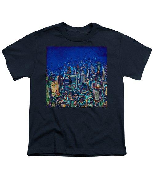 Philadelphia Panorama Pop Art 2 Youth T-Shirt by Bekim Art